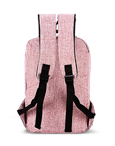 Lilimay Unisex Rucksack Einfarbig Backpack Rosa