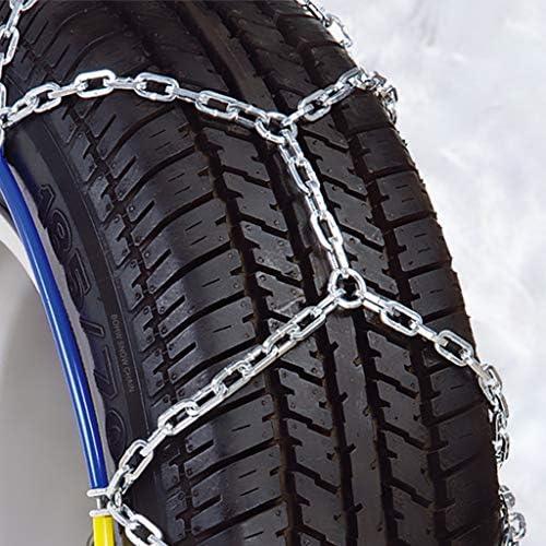 車のホイールタイヤスノーチェーン スノーチェーン205 / 55R16、カー冬のスノーチェーンSUVトラック緊急滑り止めチェーンのために タイヤチェーン 金属製 車の滑り止め緊急スノータイヤチェーン