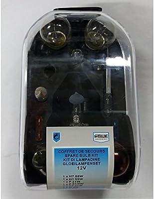 Caja de bombillas de emergencia para Peugeot 308 – 12 V H7 + H1 55 W – 894: Amazon.es: Coche y moto