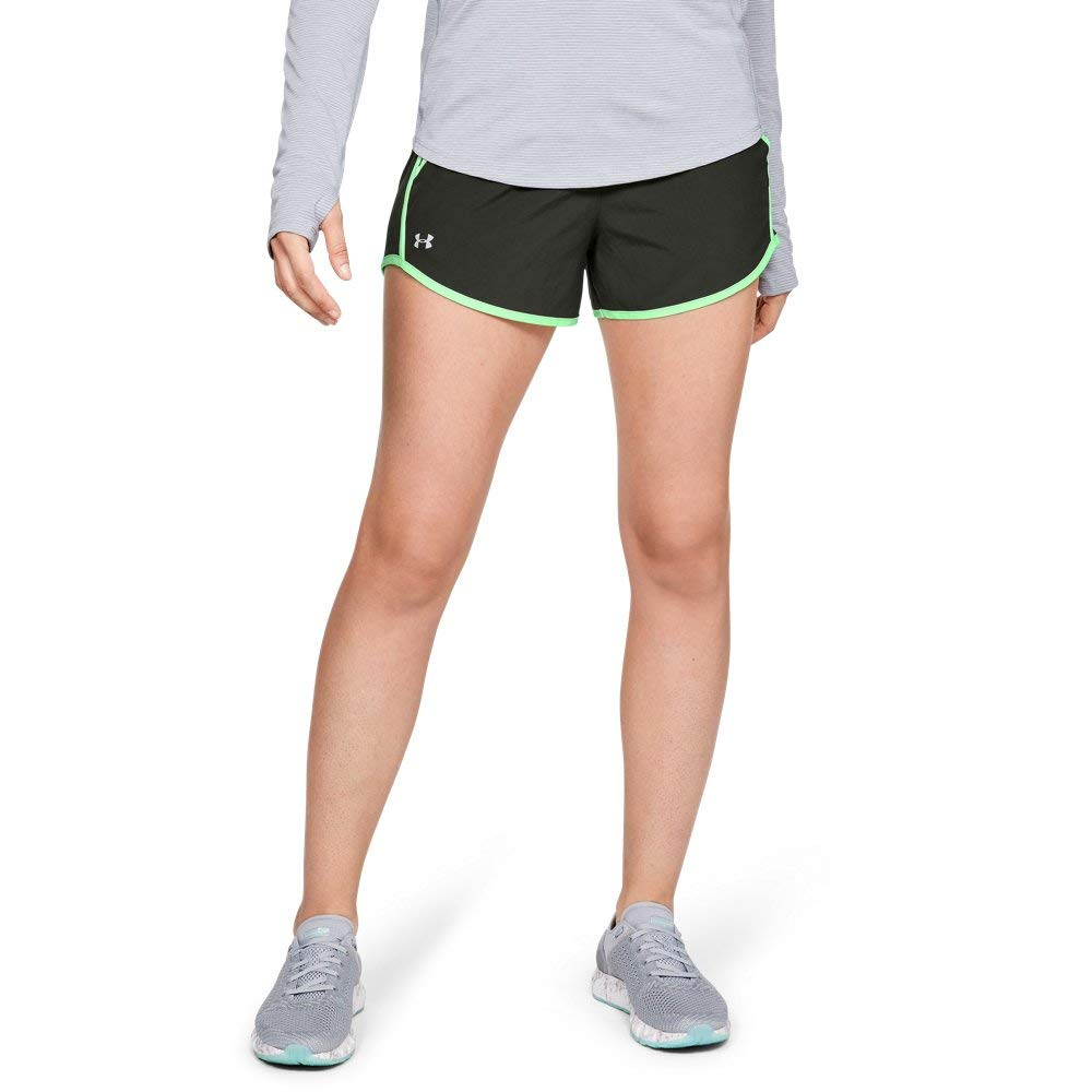 Carbon Heather//Bayou Under Armour Womens Play Up Short 2.0 Small