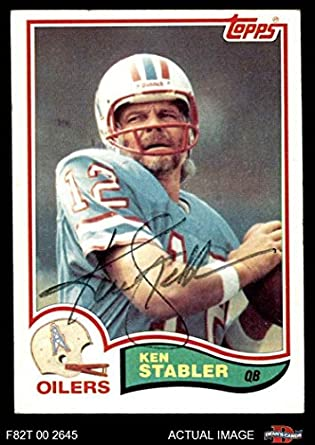 online store 74e04 f91fc Amazon.com: 1982 Topps # 105 Ken Stabler Houston Oilers ...