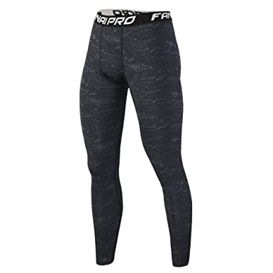 Men Running Stretch Leggings Fitness Compression Base Layer Pants Trousers M-2XL
