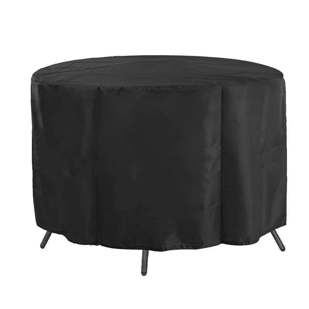 ファニチャーカバー庭の藤の家具カバー円形の屋外の防水および身につけられる、25サイズ (Color : Black, Size : 260x110cm) B07T354X4D Black 260x110cm
