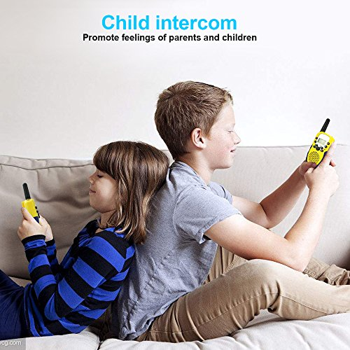 Walkie Talkies for Kids Boys Girls, Ouwen Long Range Walkie Talkies for Kids Popular Hottest Outdoor Toys for 3-12 Year Old Boys Girls Presents Gifts for 3-12 Year Old Boys Girls Yellow Blue OWUSDD09 by Ouwen (Image #5)
