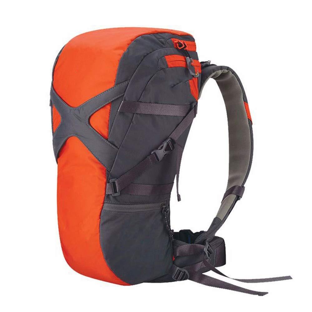 ETH アウトドアトラベルナイロン耐摩耗登山バッグスポーツ大容量通気性バックパック ハイエンド (色 : 赤, Size : L) 赤 Large