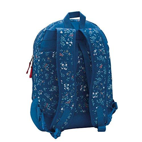 Pepe Jeans Mochila Adaptable a Carro, Diseño Flores, 21 Lt, Color Azul: Amazon.es: Zapatos y complementos