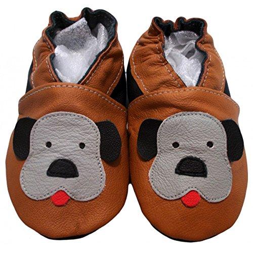 """""""Soft & Chic"""" de BBKDOM - Zapatillas de cuero para bebé - Zapatos de cuero suave - Fabricado en Europa - Calidad superior - de 0-5 años"""