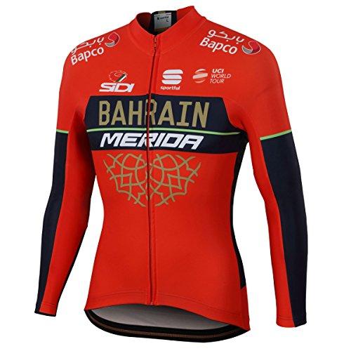 真似る夢中同行する自転車ウェア 2018 Bahrain Merida Sサイズ 長袖ジャージ Soortful
