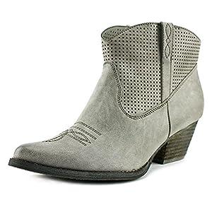Very Volatile Women's Mishka Western Boot, Grey, 8.5 B US