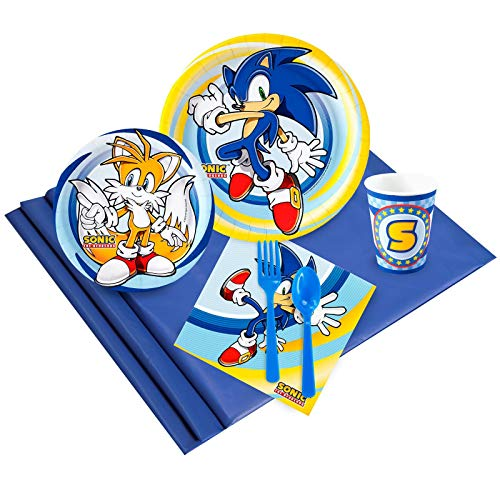 BirthdayExpress Sonic The Hedgehog Party Supplies - Party Pack for 24 Guests -