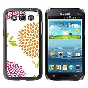 Paccase / SLIM PC / Aliminium Casa Carcasa Funda Case Cover para - Orange Pink White Pattern - Samsung Galaxy Win I8550 I8552 Grand Quattro