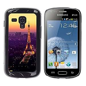 Design for Girls Plastic Cover Case FOR Samsung Galaxy S Duos S7562 Tour De Purple Tower Paris Vibrant OBBA
