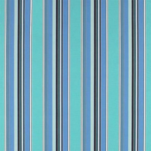 Resort Spa Home Decor Set of 4 - Sunbrella Dolce Oasis - Blue Teal Navy White Stripe - In/Outdoor Square Throw/Toss Pillows (20'' x 20'') 1101 by Resort Spa Home Decor (Image #1)