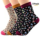 American Trends Women Winter Casual Socks 3 Or 5 Pairs Vintage Colorful Dense Dot Thick Knit Stripe Wool Warm Sock