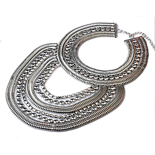 Kacon Vintage Silver or Gold Long Boho Statement Necklace Trendy Bohemian Turkish for Women Accessories Jewelry (Silver) by Kacon