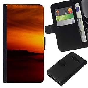 All Phone Most Case / Oferta Especial Cáscara Funda de cuero Monedero Cubierta de proteccion Caso / Wallet Case for Samsung Galaxy Core Prime // Sunset Beautiful Nature 79