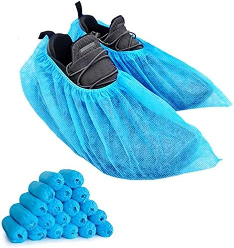 LyncMed Disposable Boot /& Shoe Covers Pack of 100 Non Slip Protective Foot Booties Fits All Size Up to XL Water-Resistant