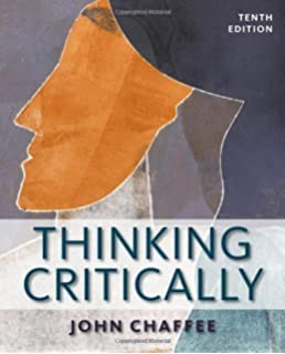 Thinking Critically 10th (tenth) Edition by Chaffee, John published by Cengage Learning (