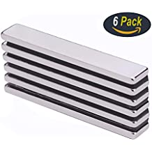 6Pcs Neodymium Bar Magnet, DIY, Construction, Science, Craft and Office Strong Rare Earth Metal Neodymium Magnets - 60 x 10 x 3 mm