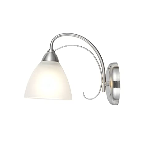 online store a5258 6cbb7 VINLUZ One Light Bathroom Wall Sconce Light Fixtures Brushed Nickel with  Frosted Glass, Porch Singel Wall Lighting