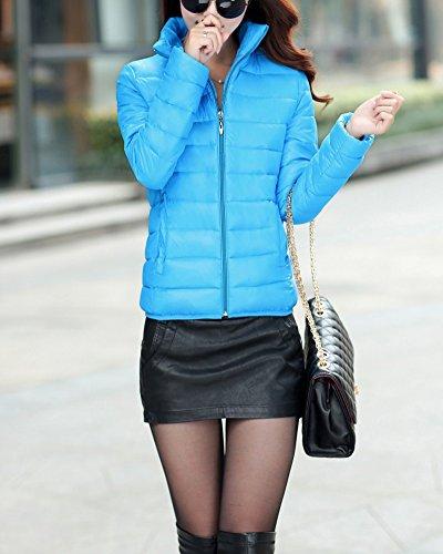 et courte Section Veste Femme en Lger Duvet Slim une veste Bleu petite mince a1tqw5q