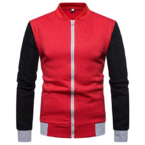 Men Conjoin Jacket Color Zips Casual with Collar RkBaoye Coat Trench 2 Stand adqwR7