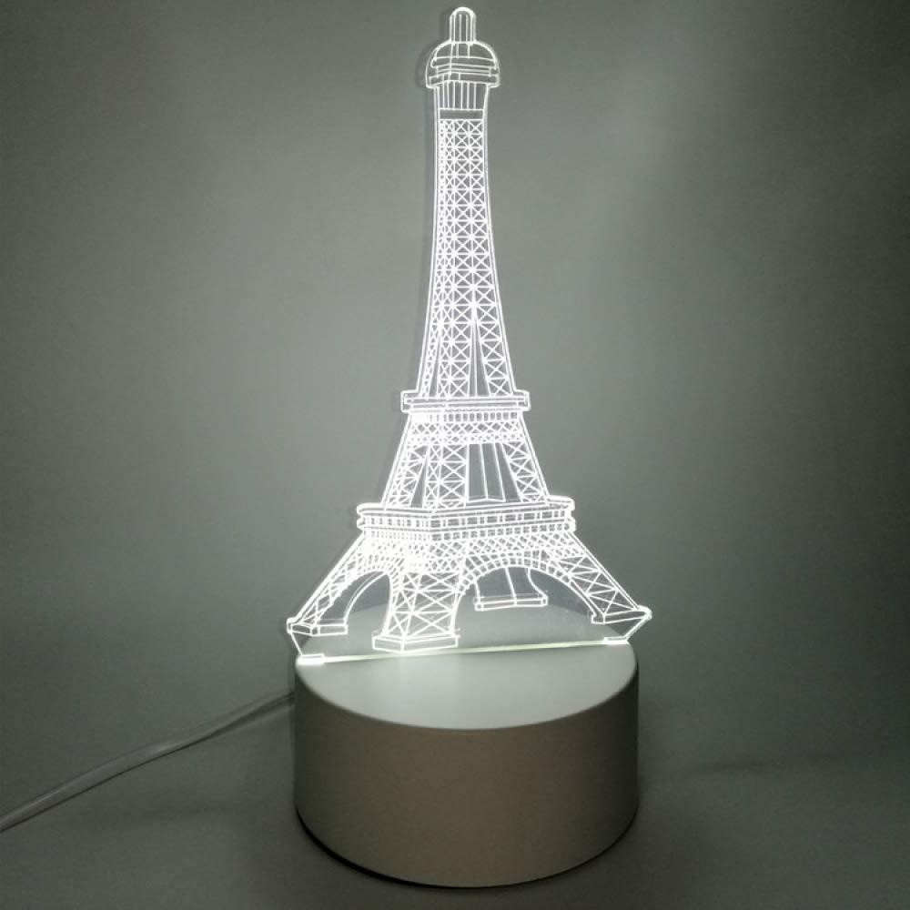 Luz de Noche 3D Interruptor enchufable USB Dormitorio cabecera led ...