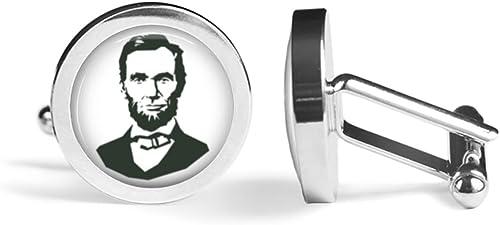 Abraham Lincoln President Cufflinks Angled Edition