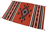 Splendid Exchange Hand Woven Acrylic Southwest Area Rug, 4 Feet by 6 Feet, Diamond Birds Rust Red