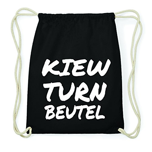 JOllify KIEW Hipster Turnbeutel Tasche Rucksack aus Baumwolle - Farbe: schwarz Design: Turnbeutel nYw7S