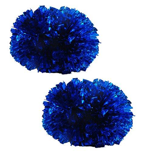 Colorful Baton Poignée En Plastique 120g Cheerleading Poms(paire), Bleu