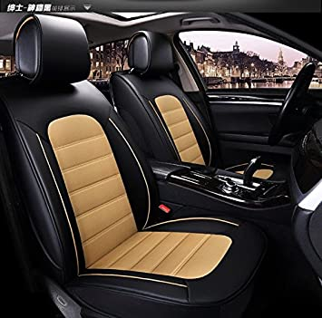Sensational Frontline Platinum Series Black Beige Pu Leather Car Seat Ocoug Best Dining Table And Chair Ideas Images Ocougorg