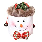 Midress Mini Christmas Santa Claus Snowman Elk Candy Storage Bag, Kids Gift Candy Bags Wrapping Bags Holiday Party Supplies for Christmas Party Hanging Decoration (B)