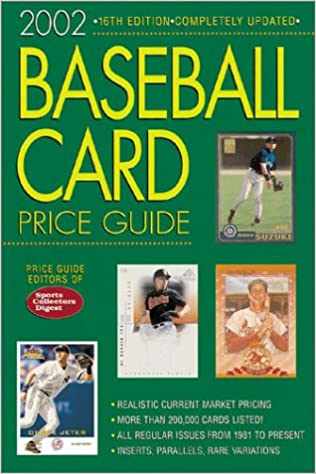 Baseball Card Price Guide Sports Collectors Digest Price