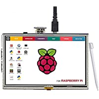 YiLang 5 Inch TFT LCD Display 800x480 HDMI Screen Monitor with Touch Function for Raspberry Pi B+/2B/3B
