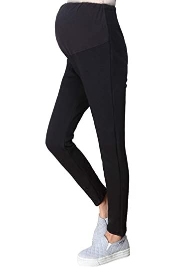 24a70457b000f Womens Maternity Leggings Winter Warm Velvet Lined Over Belly Pregnant Pants  at Amazon Women's Clothing store:
