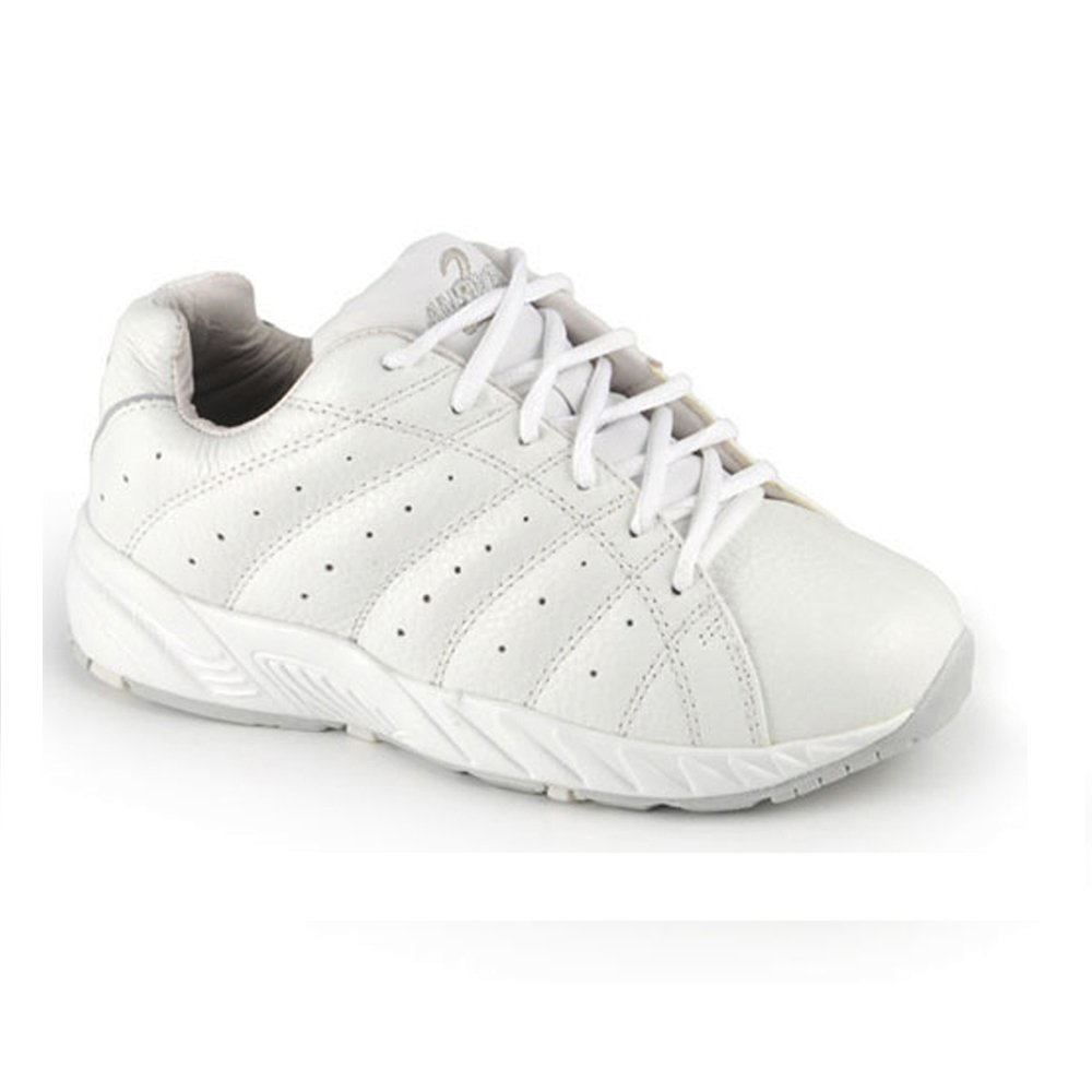 Apis Answer2 447-3 Women's Therapeutic Extra Depth Shoe: White/Silver 11 X-Wide (3E) Lace