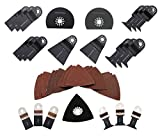 ABN Deluxe 38 Piece Universal Oscillating MultiTool Blade Combo Set Kit Fein Multimaster Blades
