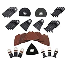 ABN Deluxe Universal Oscillating MultiTool Blade Combo Kit, 38 Piece