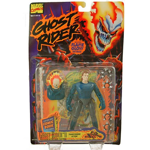 Ghost Rider II Figure W/Transforming Action and Glow-in-the-Dark Features (1995 ToyBiz) - Ghost Rider Horse
