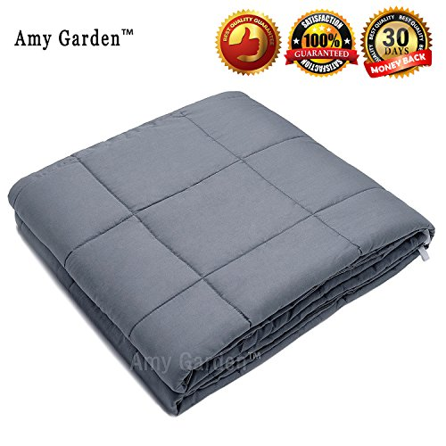 Amy Garden Weighted Blanket for Anxiety, ADHD, Autism, Insomnia or Stress - Premium Various Weighted Blankets for Great Sleep (48