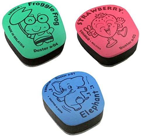 Small Kiddy Dry Erase Whiteboard Eraser, Pack of 12