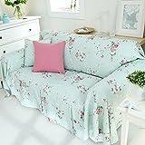 RUGAI-UE Sofa Slipcover Linen sofa cloth sofa cover tight non slip full frontal,300×200 wide,Blossoming
