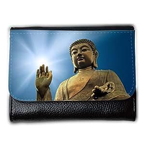 le portefeuille de grands luxe femmes avec beaucoup de compartiments // V00001629 la iluminación de Buda // Medium Size Wallet