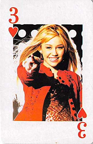 - Miley Cyrus trading game card Hannah Montana #3 Red Jacket Size 2x3 inches
