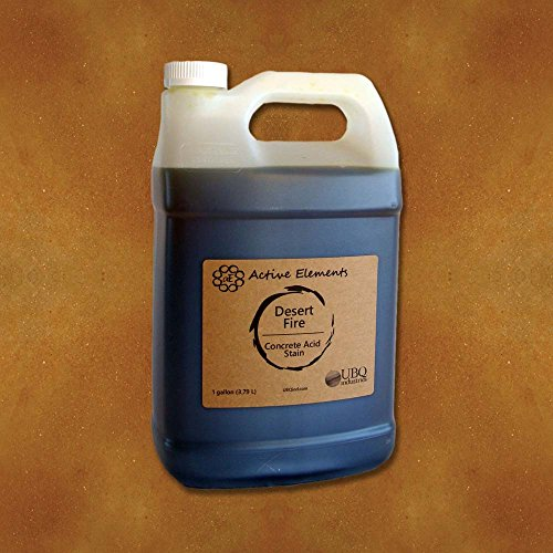 - Official Concrete Acid Stain penetrating Acid Stain for Concrete Surfaces Desert Fire (red, Brown, Terra Cotta) - 1 Gallon