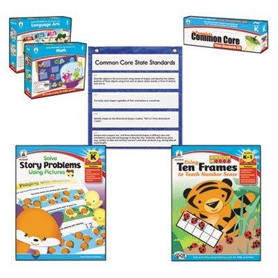 Carson Dellosa Common Core Kit for Math and Language, Kindergarten (CDP144603) by Carson-Dellosa