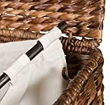 BIRDROCK HOME Seagrass Laundry Hamper - Hand Woven