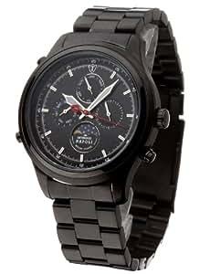 DeTomaso SM1628C-BK - Reloj analógico de caballero de cuarzo con correa de acero inoxidable negra