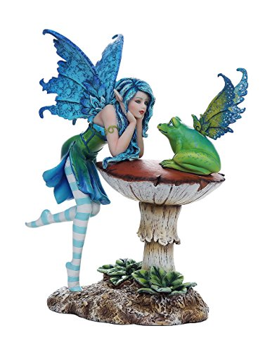 Pacific Giftware Enchanting Frog Gossip Fairy Collectible Decorative Statue 6.5H Amy Brown